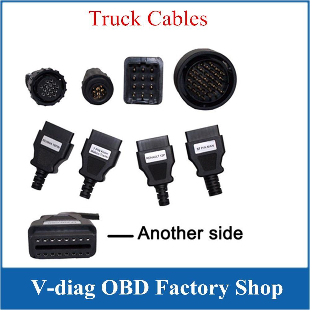 Daha İyi Kalite Ve Düşük Fiyat Ücretsiz Teşhis TCS CDP Pro Kablolar Kamyonlar Kamyonlar İçin 8 Kablo ile Tam Setleri Nakliye