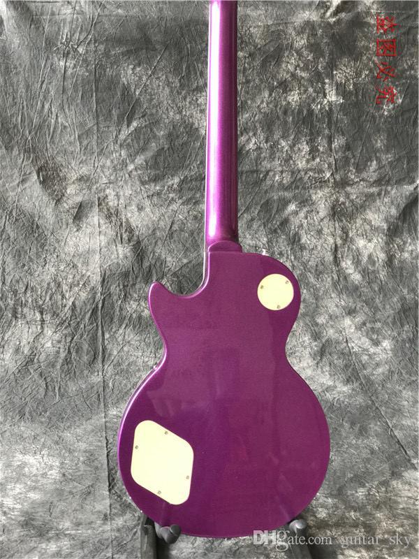 새로운 사용자 정의 고품질 일렉트릭 기타 금속 보라색 기타 공장 중국을 완료! 뜨거운 판매 guitarra