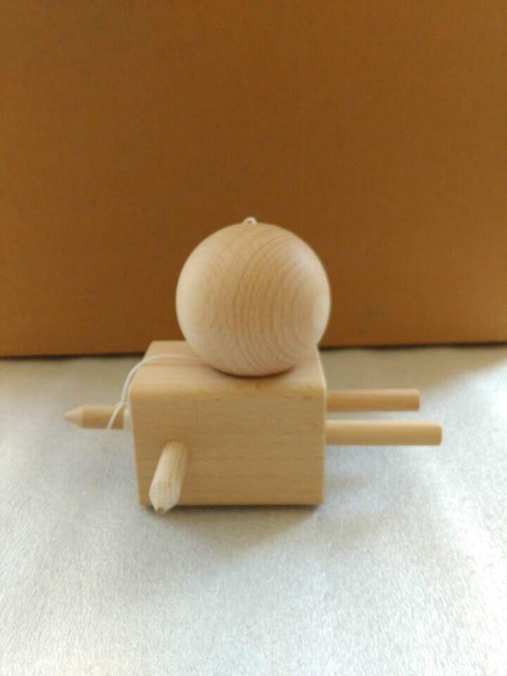 caliente Nuevo llega madera de haya kendama juguete kendama muñeca Kendama juego de juguete de madera libre de DHL
