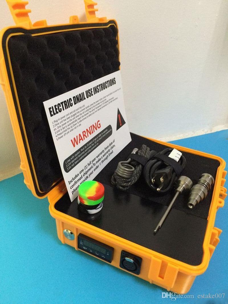 Il più economico E Nail Pelican Electric dab nail ENAIL controller cera PID TC box con 10mm / 16mm / 20mm lumaca riscaldatore a spirale senza tetto