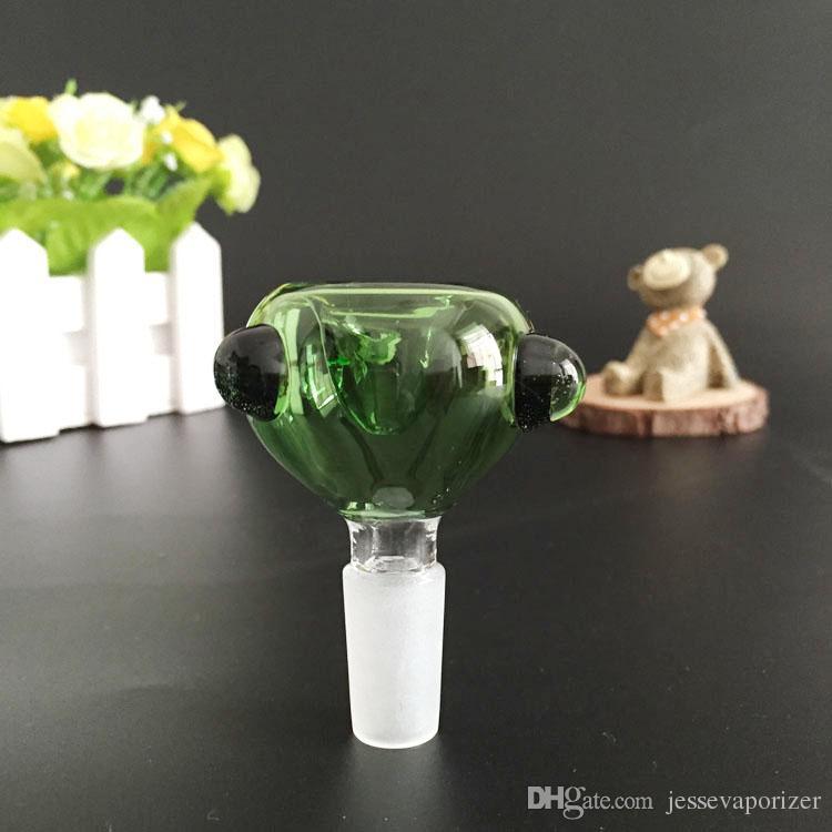 Zwei Funktionen Wasserleitung Glasschüsseladapter Glaskuppel Nagelbong Zubehör 18,8mm 14,5 mm Jiont für Kräber Rauchen Bong