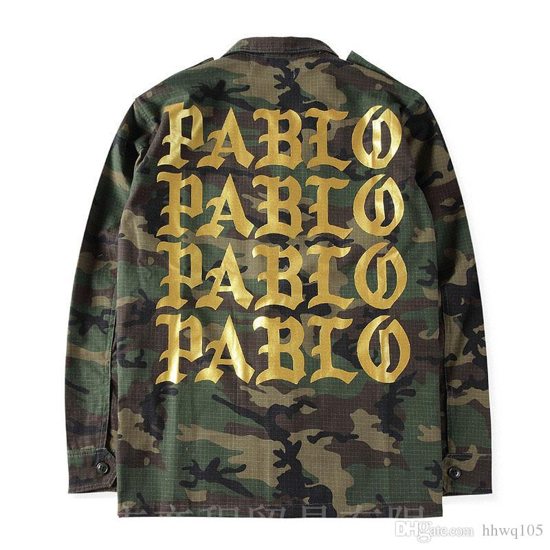 Pablo Print Camo Jacket Men Cool Coaches Jackets Single Breasted ...