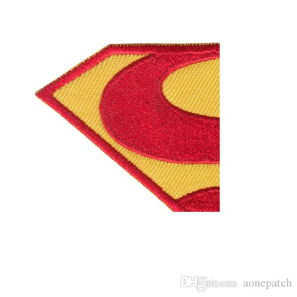 diamond patches Embroidered Superman Iron On Wholesale DIY accessory Applique Badge on Cartoon Minioned Clothes Patches