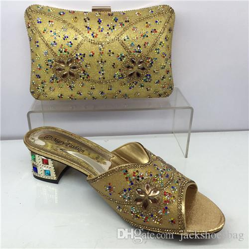 2017 Latest Italian Shoes With Matching Bags Nigeria Wedding And Bag To Match Stones African Shoe Set For Parties Happy Feet Slippers Grey