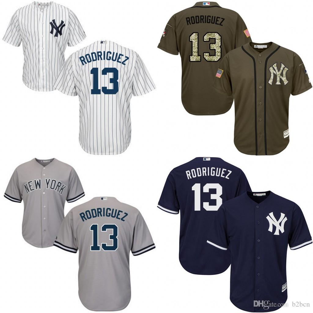 ... new zealand czech mens new york yankees 13 alex rodriguez 2015 new  white black pinstripe jersey ... ced622de654