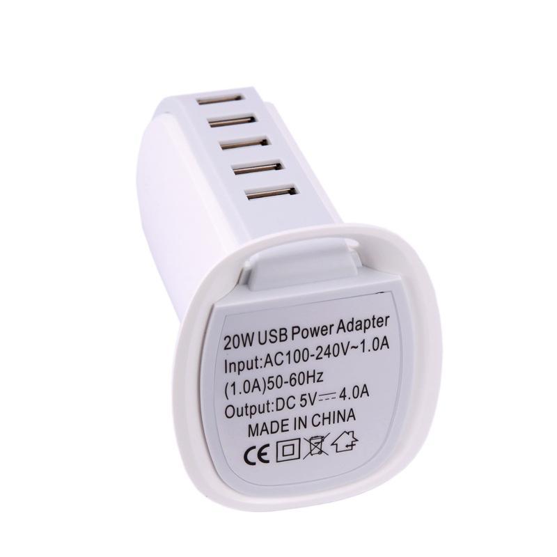BOOT Real 4.0A 5 Ports USB Vertikales Tischladegerät mit 1m Kabel im Kleinpaket FÜR Smartphone Tablet PC /