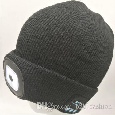 8bd8163985b Winter LED Beanies Rechargeable Music Hat Sports Beanie Knitted Cap Camping  Fishing Hat Unisex Bluetooth Beanies CCA7718 Knit Beanie Cap Shop From ...