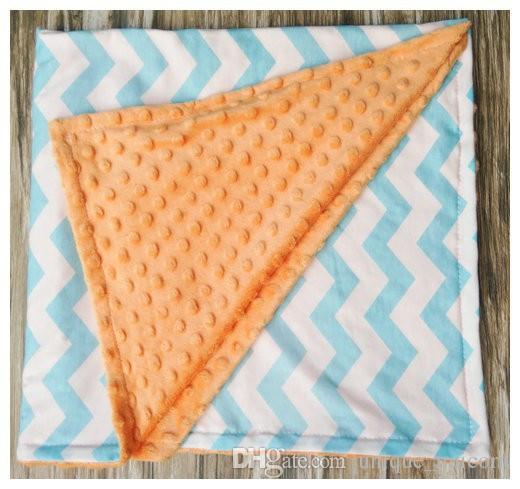 2016 European Style Children Cotton blanket baby kids spring qulit infant dot zig zag children's air-condition blankets