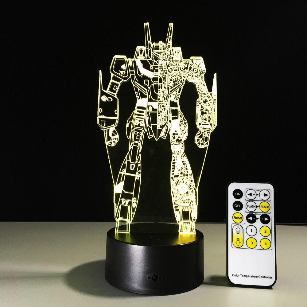 Transformers 3D LED Gece Lambası 3D Optik Lamba Pil DC 5 V Toptan Ücretsiz Kargo Fabrika Toptan