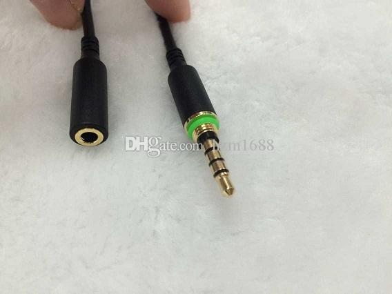 Adaptateur casque Prise étanche Housse Remplacement de la fiche du câble de 3,5 mm femelle Câbles mâles avec Seal Cap pour iPhone 6 6plus