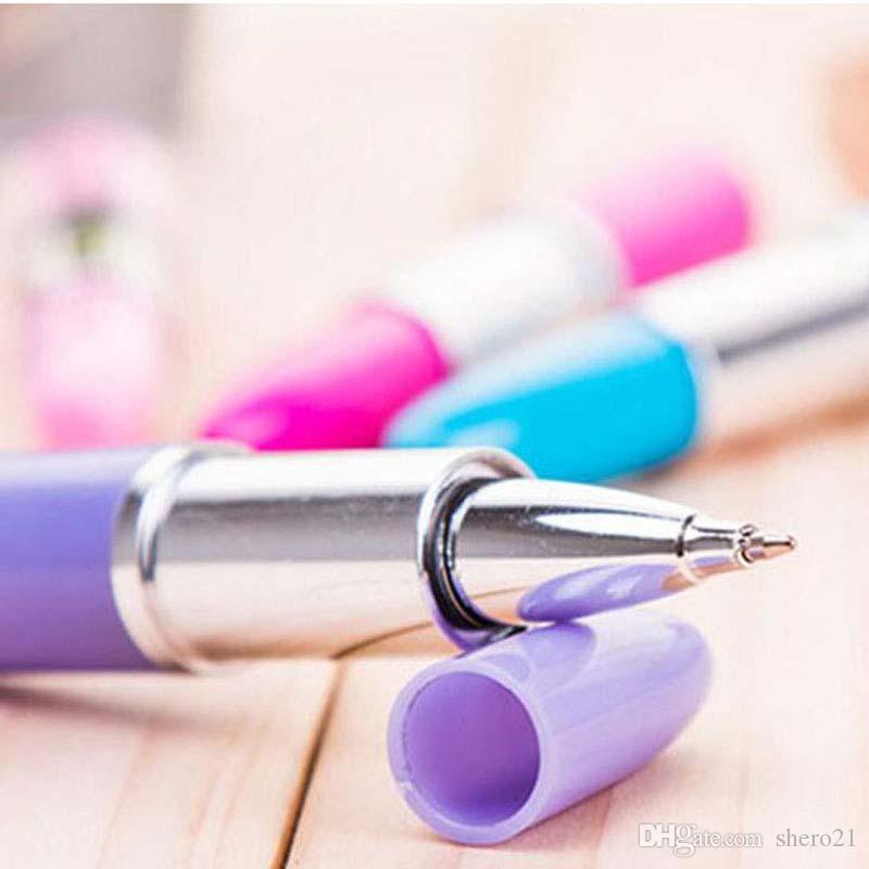 Высокое качество 20 шт./лот помада форма гелевые ручки шариковые ручки подписание ручка письменные принадлежности Бесплатная доставка Papelaria