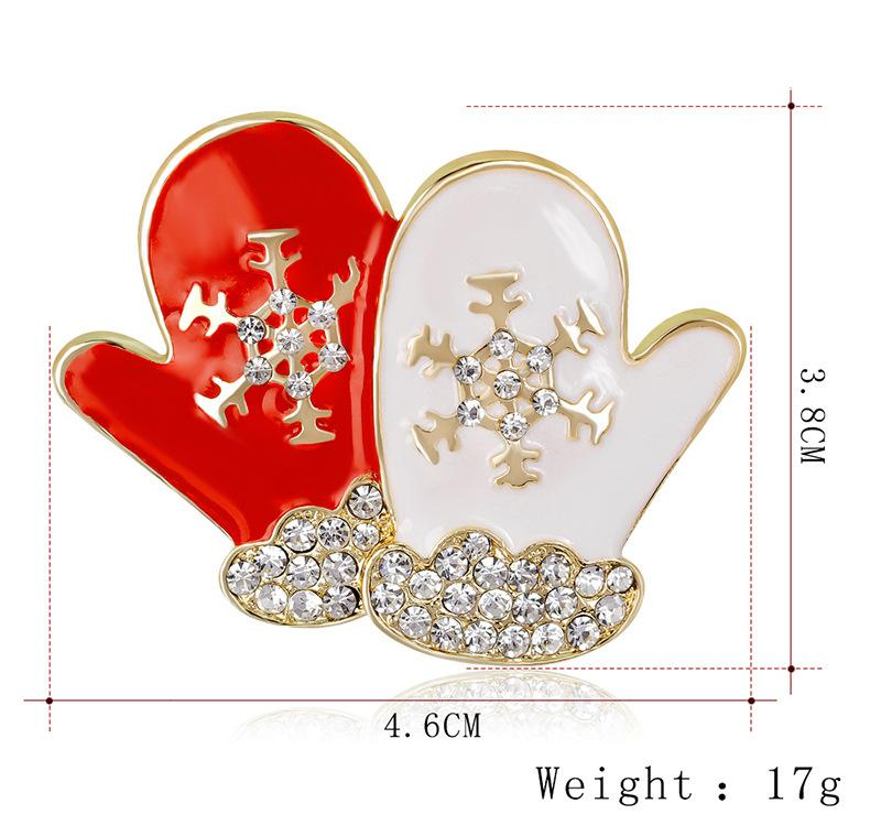 Christmas Gold Brooches Pin Santa Claus Deer Christmas Tree Sock Small Speaker Snowman Mix Crystal Quality Brooch Jewelry for Kids Women