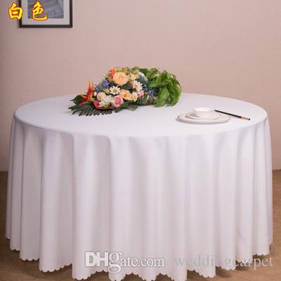مجانا عن طريق DHL، و 10 قطعة مفرش غطاء المائدة المستديرة الحرير للولائم حفل زفاف الديكور أبيض أسود بالجملة 71