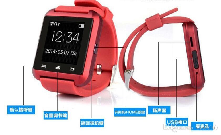 U8 Smart Watch Bluetooth Phone Mate Smartwatch Perfect for Android for iphone 4S/5/5S for sumsung S4/S5/Note 2/Note4