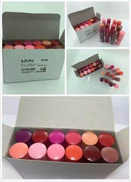 New women NYX Butter lipstick factory price Long Lasting Lip Gloss Professional Makeup NYX Butter Liptstick /box