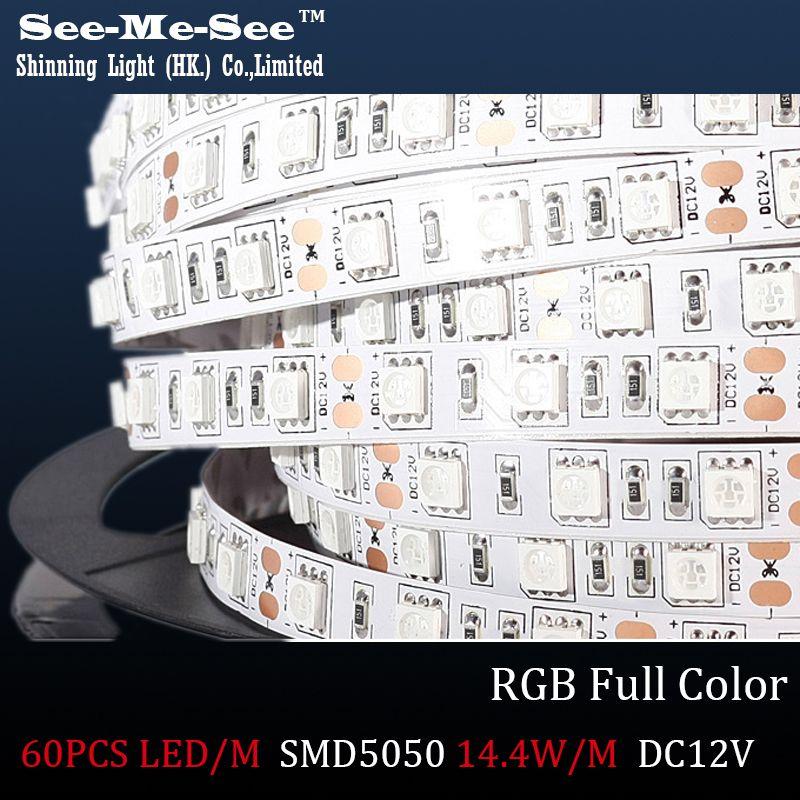 Rgb Full Color 5msmd 5050 Led Strip Dc12v Ip65 Waterproof