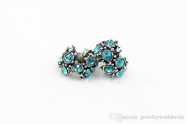 Shining Crystal Charm Bead 925 Argento Placcato Fashion Donne Gioielli Stunning Design Stile europeo la collana del braccialetto Pandora