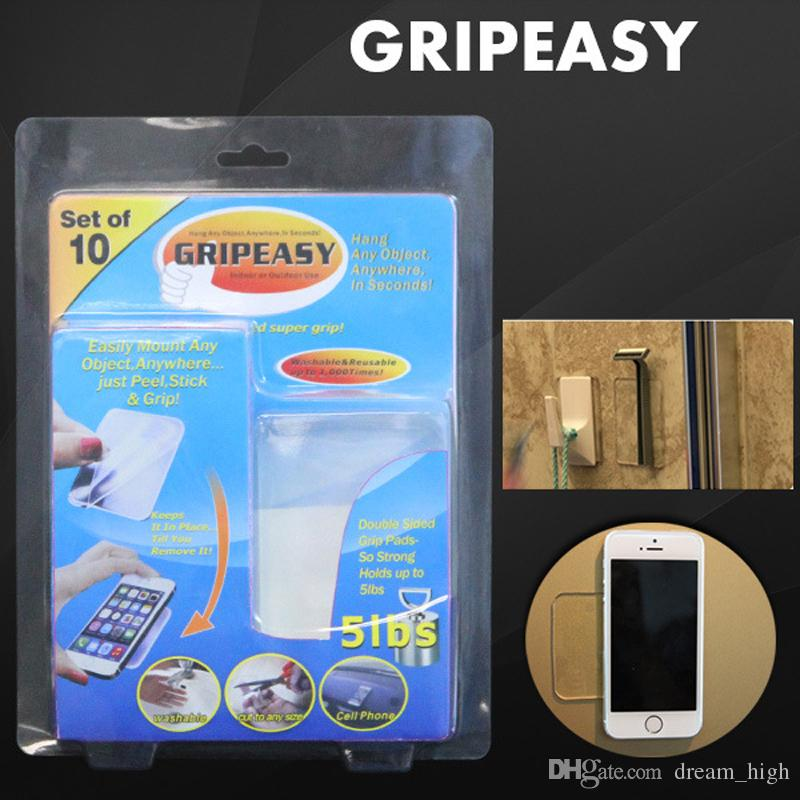 2016 GRIPEASY GRIPEEZ Removable Indoor Outdoor Double Sided Super Grip Magic stick Mounting Pads Strong non-slip stickers Easy Washable