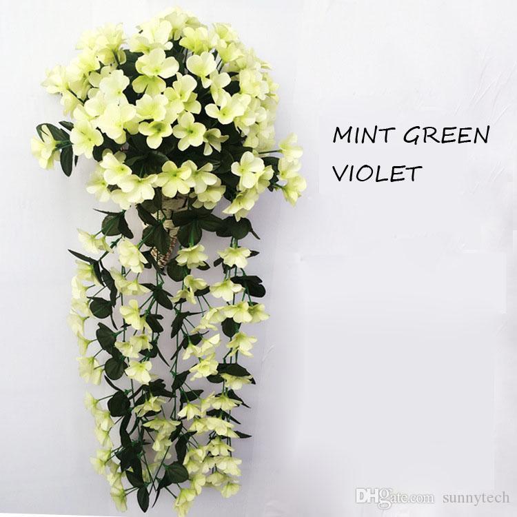 80cm Künstliche Blume Wisteria Rattan Violet Silk Kunststoff Blume Dekoration Für Hochzeit Home Party Festival Kostenloser Versand