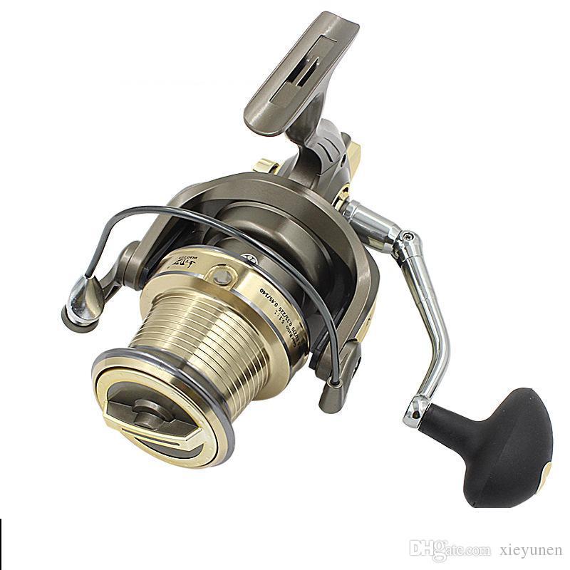 Новая полная металлическая линия Кубок морской рыбалки большой длинный выстрел колесо 14 + 1BB море полюс колесо лодки катушки прялка WTDZ 7000/8000/9000