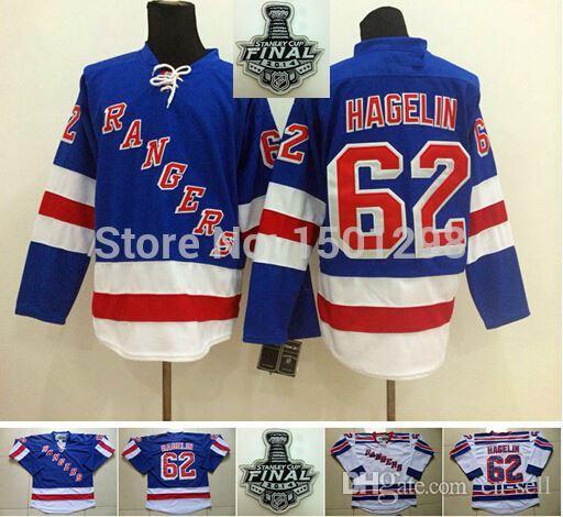 pretty nice aa718 52c3c 62 Carl Hagelin Jersey NY New York Rangers Hockey Jerseys 2014 Stanley Cup  Home Royal Blue Road White Third Navy Stitched Jersey