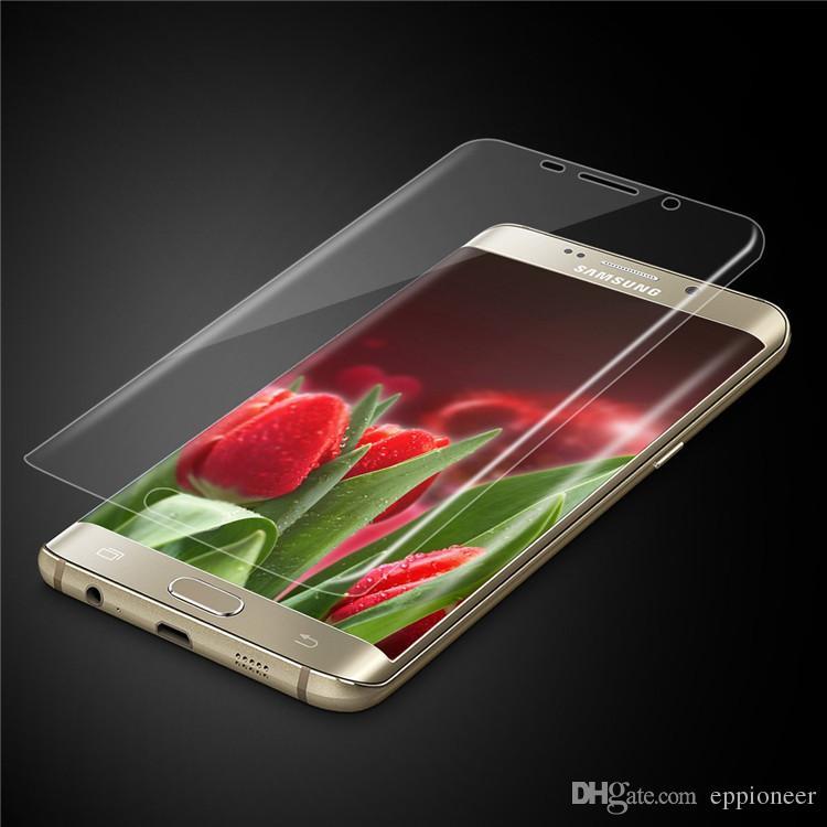 غطاء حامي الشاشة المنحني لفون XS XR Max S9 ملاحظة 9 8 S8 S7 Edge Samsung Galaxy التغطية الكاملة Clear Soft TPU Film