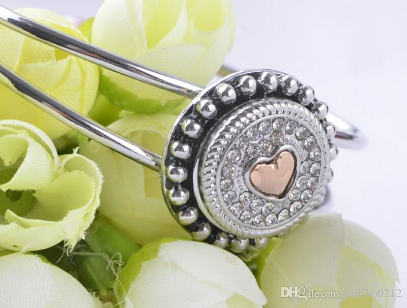 Кнопка Noosa Snap 18 мм Сердце Горный Хрусталь Имбирь Snap Chunk Кнопка Шарм Взаимозаменяемые Diy Ювелирные Изделия Кнопка Noosa Для Noosa Браслет