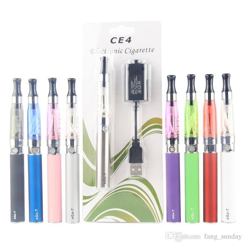 electronics cigarette ego t ce4 single starter kit 650 900 1100 mah vape pen battery ego-t ce4 510 atomizer blister kit