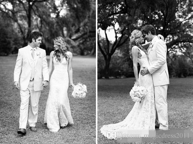 New Cheap Mermaid Wedding Dresses Deep V Neck Backless Sleeveless Full Lace Wedding Bridal Gowns Plus Size vestidos de novia Custom Made