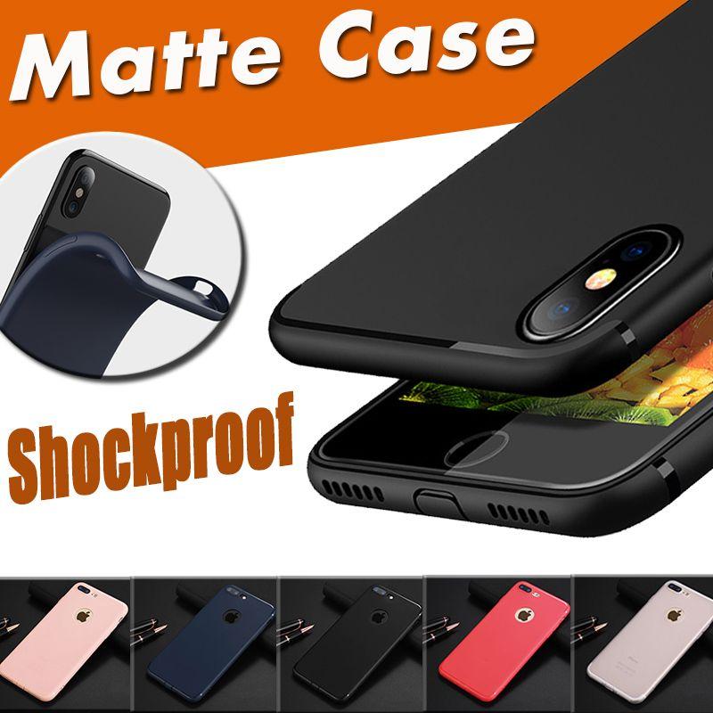 3ba3e6e0aa0 ... Caramelo Sólido A Prueba De Golpes Suave TPU Gel De Silicona Ultra  Delgado Flexiblemente Mate Funda De Piel Mate Para IPhone XS Max XR X 8 7  Plus 6 6S ...