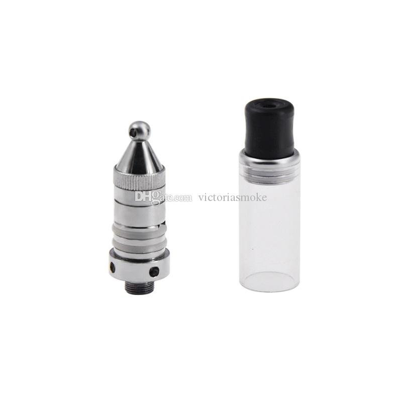 Mini Bald Wax Pen Electronic Cigarette Kit Ego 510 Thread Wax Attachment Wax Essential Oil Smoking Cartomizer Kit with Micro Charger Battery