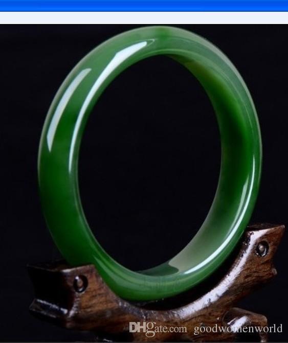 Fine Women's jewelry green jade bracelet with a certificate genuine natural green jade Emerald bracelets