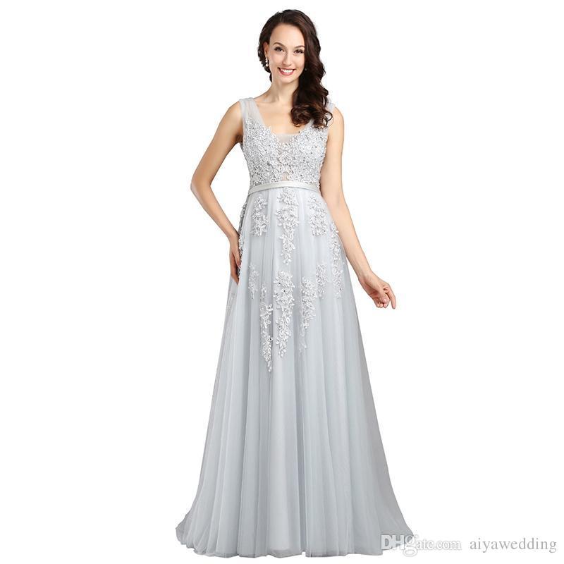 2021 Красные вечерние платья Дешевые плюс размер выпускных платья V-образным вырезом Без спинки на молнию обратно тюль аппликации длиной до пола A-Line сексуальные вечерние платья