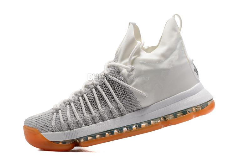 3b8c62f312c5 2019 Summer Pack White Grey Mens KD 9 Elite Sneakers