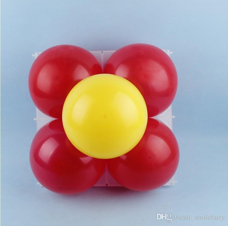 Latex balloon modeling accessories plastic 4 holes balloon grid, balloon grids for party supplies