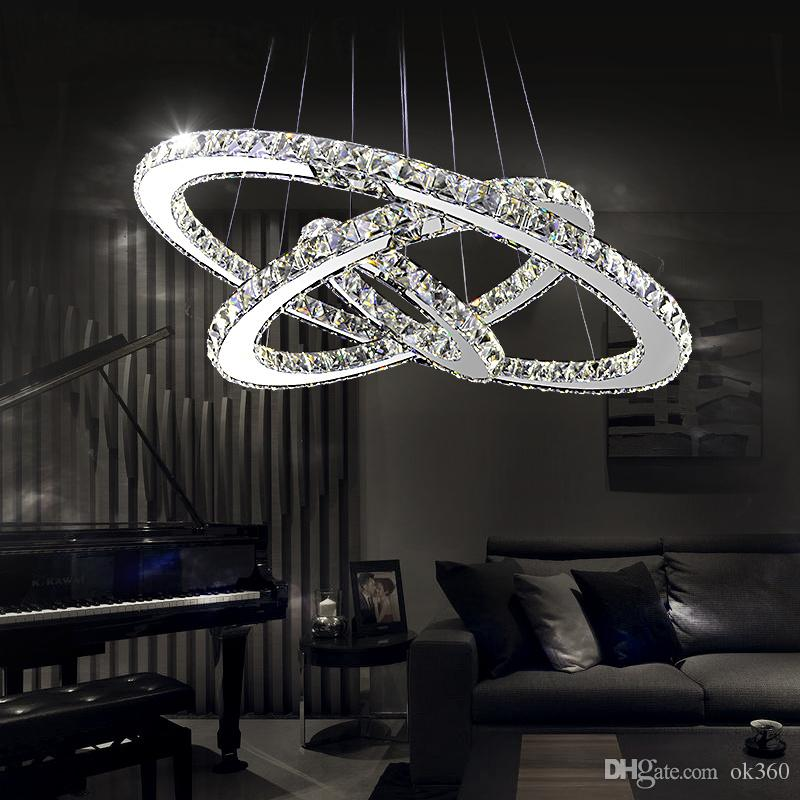 Modern Led Crystal Chandeliers Pendant Lights Ceiling Hanging Lighting Fixtures With Ac110 240v Led Smd Round Ring Diamond Ce Fcc Rohs Glass Ball Chandelier ... & Modern Led Crystal Chandeliers Pendant Lights Ceiling Hanging ...