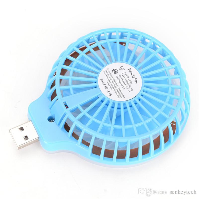 الجمال المحمولة الصمام ليلة الخفيفة USB مروحة صغيرة المحمولة صورة شخصية ملء ضوء مع مروحة صغيرة لبنك سطح المكتب قوة البنك المحمولة جيب USB مروحة
