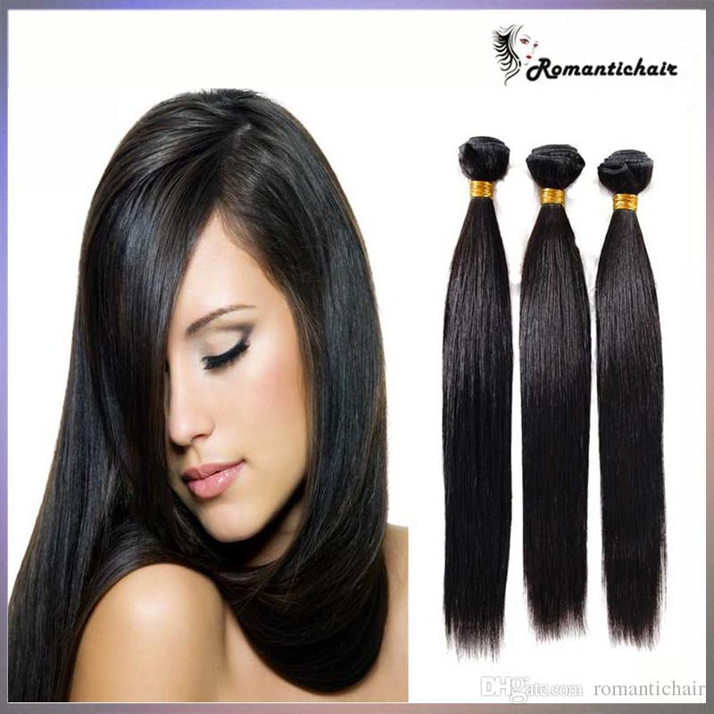 Extensión brasileña del pelo humano 3/por lotes Camboya peruana malaya virginal sin procesar del pelo recto de la Virgen Bundles teñible 9A armadura del pelo humano