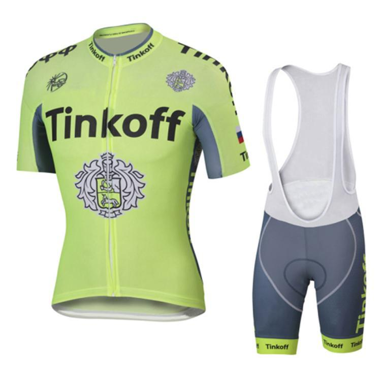 2016 Tinkoff Saxo Bank Fluo Light Tour De France Cycling Jerseys Set ... 6276d9c69