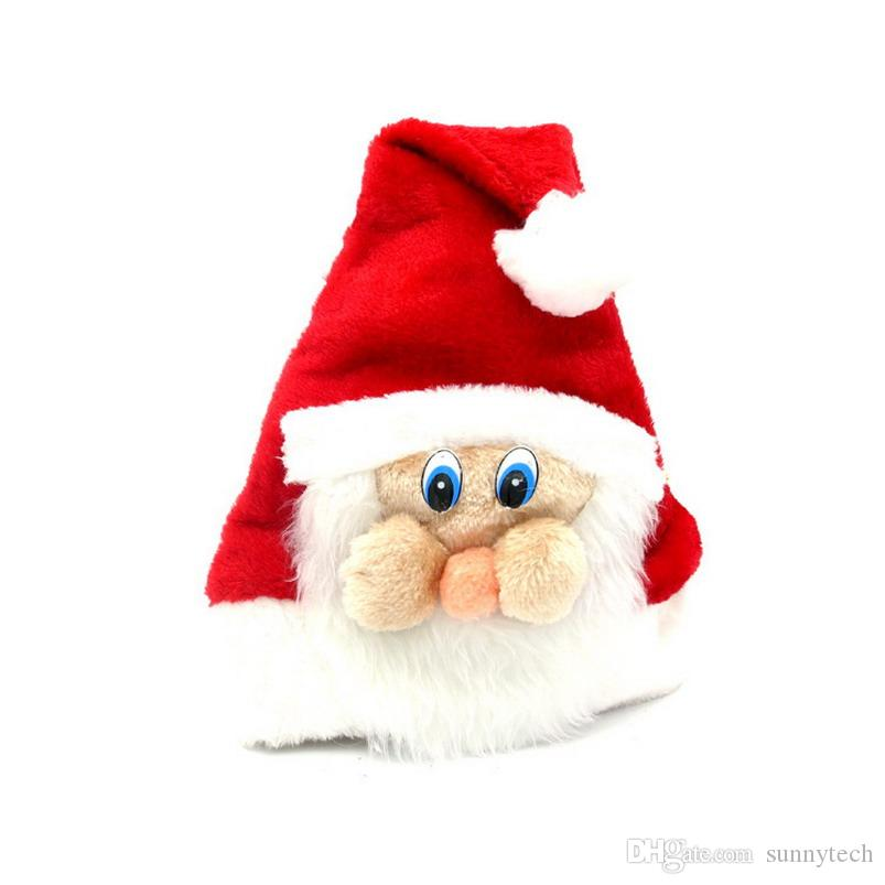 Christmas Hats Soft Plush Adult Children Santa Claus Face Big Moustache Caps Fashion Santa Claus Face Cap S2017399