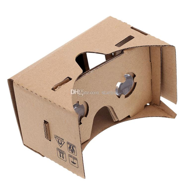 Occhiali 3D DIY Google Cardboard Cardboard Telefono cellulare Virtual Reality Glasses 3D Occhiali non ufficiali Cartone Google VR Toolkit Glasses 3D WX-G10