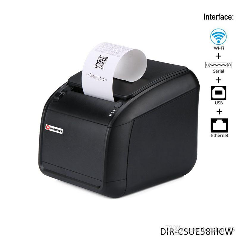 58mm Desktop Wifi Thermal Receipt Printer With Auto Cutter Serial Usb Ethernet Cashdrawer Interfaces Small Ticket Portable Scanner