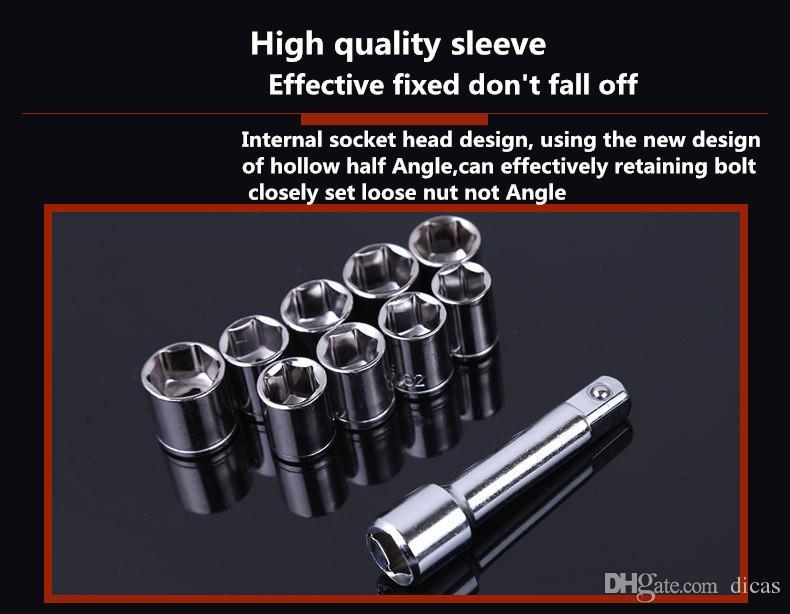 Set d'outils de socket Manuel Mécanique Mécanique Mécanique Mécanique Moto automobile Rappqir Outils Tools Socket Socket Settings