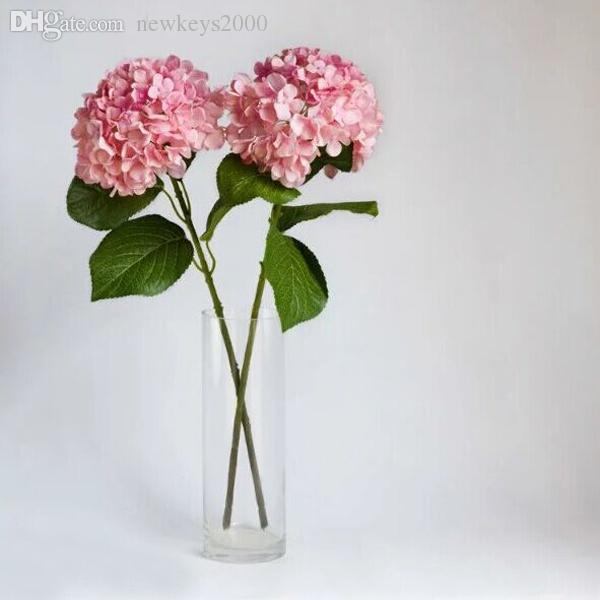 2018 24 inch tall victorian hydrangea in cream white hot pink silk 2018 24 inch tall victorian hydrangea in cream white hot pink silk artificial flowers for wedding banquet home party cafe design showcase flower from mightylinksfo