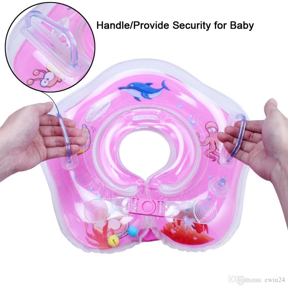 Дети воздушный Инфлятор плавать шеи поплавок кольцо детское плавание круг лето водные виды спорта новый бренд горячей продажи