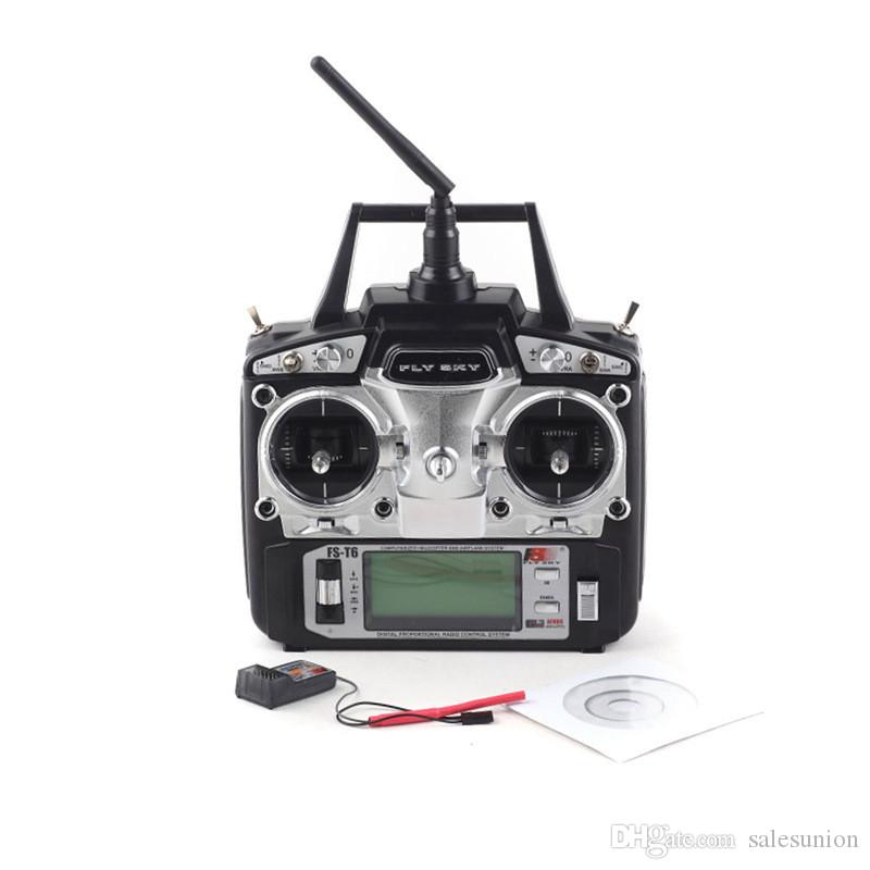 Hot sale flysky FS T6 2.4G 6CH Transmitter Mode 2 Radio/Remote Controller With Rreceiver For Rc Airplanes Helicopter Glider Dropshipping