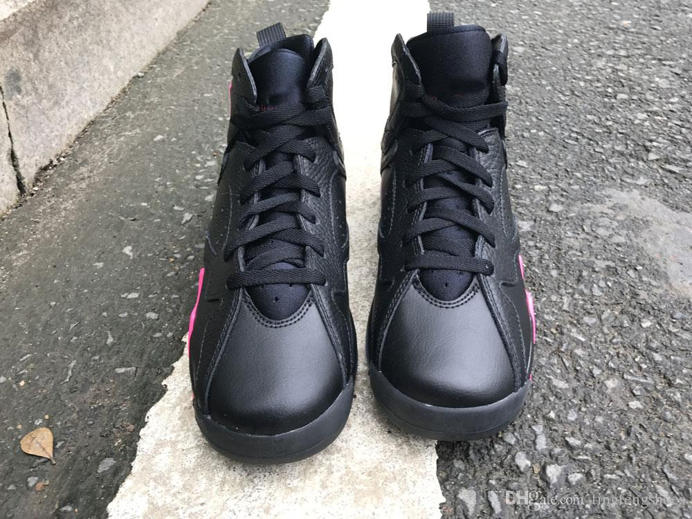 2018 GS Hyper Pink 7 Basketball Shoes Women AAAA quatily Newest Released VII 7S Black Pink Girls Sports Sneakers US5.5-8.5