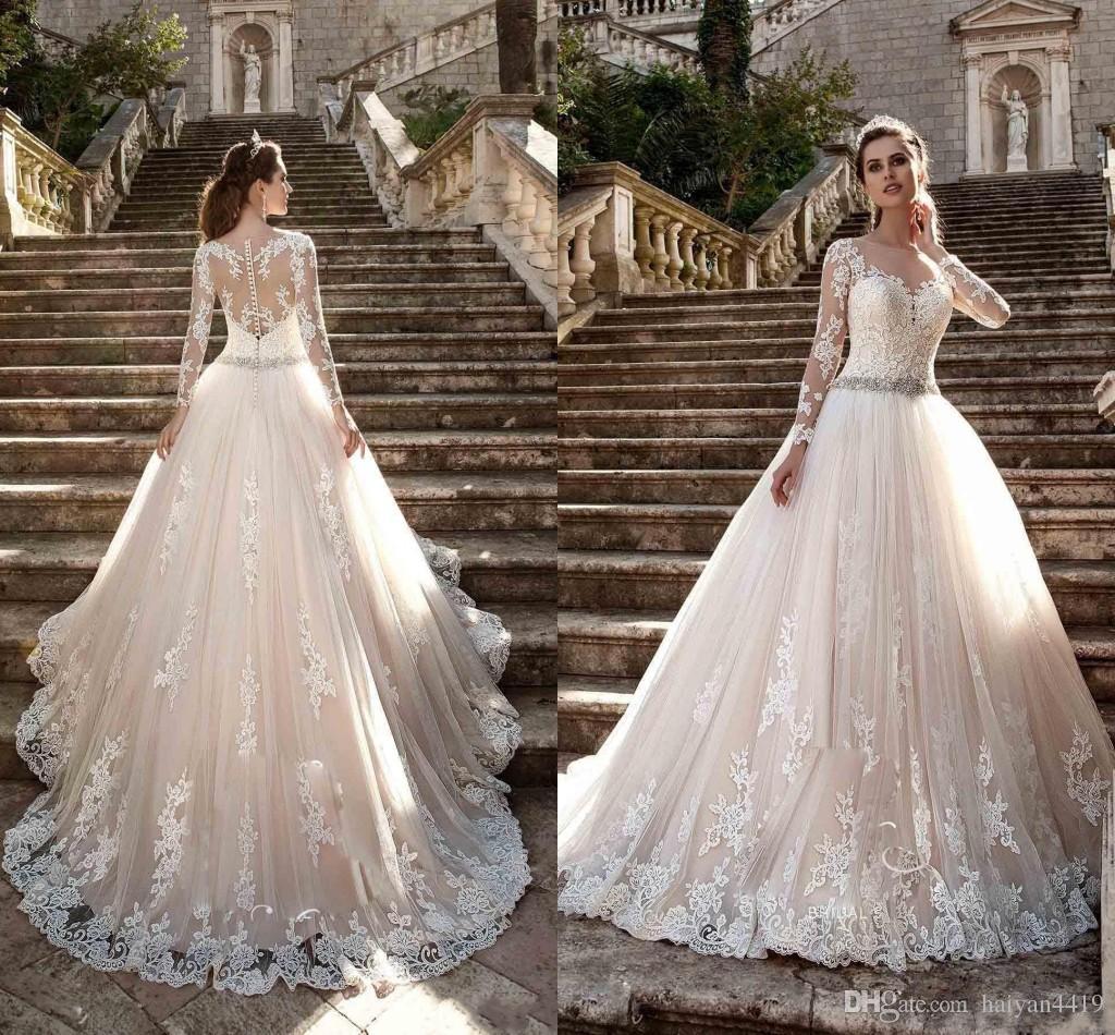 Discount Milla Nova 2019 Wedding Dresses Jewel Neck Long