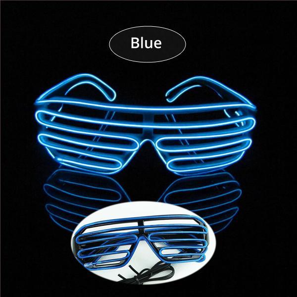 Blue El Glasses El Wire Fashionable Neon Led Light Glowing ...