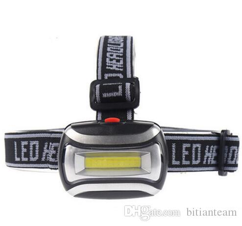 Mini À Prova D 'Água 600Lm COB LEVOU Farol 3xAAA Farol Da Bicicleta da bicicleta Cabeça luz com Headband para Camping Caminhadas Ciclismo Crianças